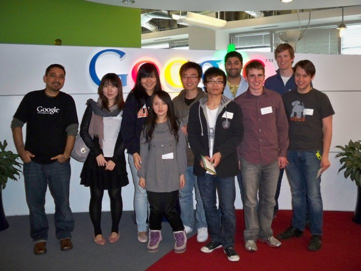 Forrest Iandola with University of Illinois Computer Science Students at Google in Chicago